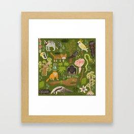 Rainforest citizens Framed Art Print