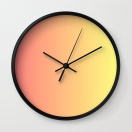 Color gradient 14. red and yellow. abstraction,abstract,minimalism,plain,ombré Wall Clock