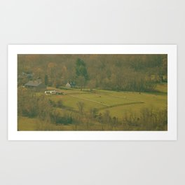 Horse Farm (View from the Mountain Top) Art Print