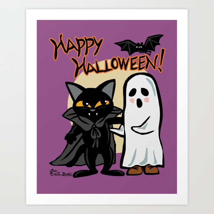 Halloween with you Art Print