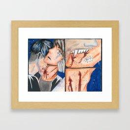 Biting Framed Art Print