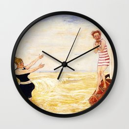 Summer Beach Humor: The Call of the Siren by James Ensor Wall Clock