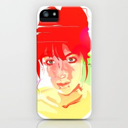'Girl with Fire in Her Eyes' iPhone Case