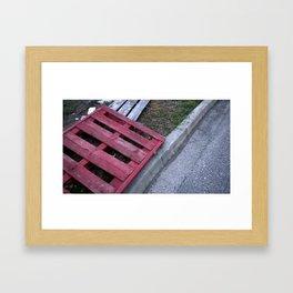 Red Pallet Framed Art Print