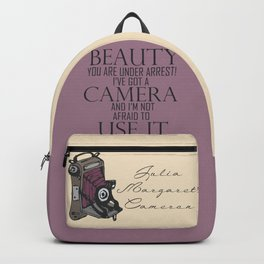 Say Cheese! collection: vintage folding camera Backpack