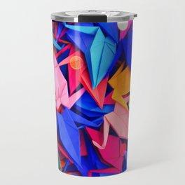 Senbazuru | pink and blues Travel Mug