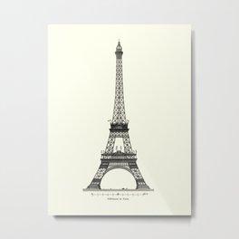 Eiffel tower Pattern  Metal Print