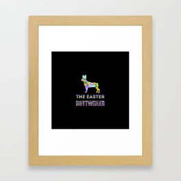 Rottweiler gifts | Easter gifts | Easter decorations | Easter Bunny | Spring decor Framed Art Print