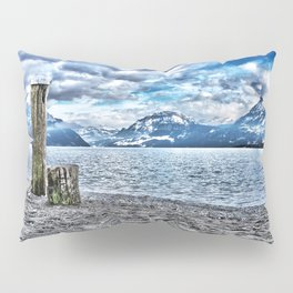 Cloudy day at lake lucerne Pillow Sham