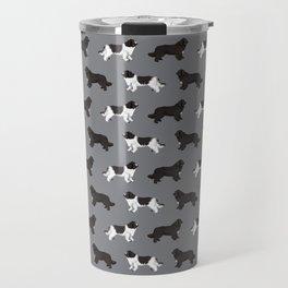 Newfoundland dog breed custom pet portrait by pet friendly dog lover must have gifts Travel Mug