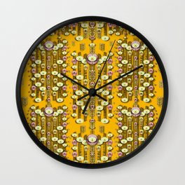 Rain showers in the rain forest of bloom and decorative liana Wall Clock