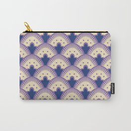 Fan Pattern Lavender and Blue 991 Carry-All Pouch