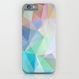 Delicate green polygonal pattern . iPhone Case