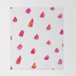 Brush Pattern - Pink Throw Blanket