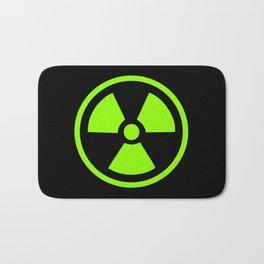 Green Radioactive Symbol Bath Mat