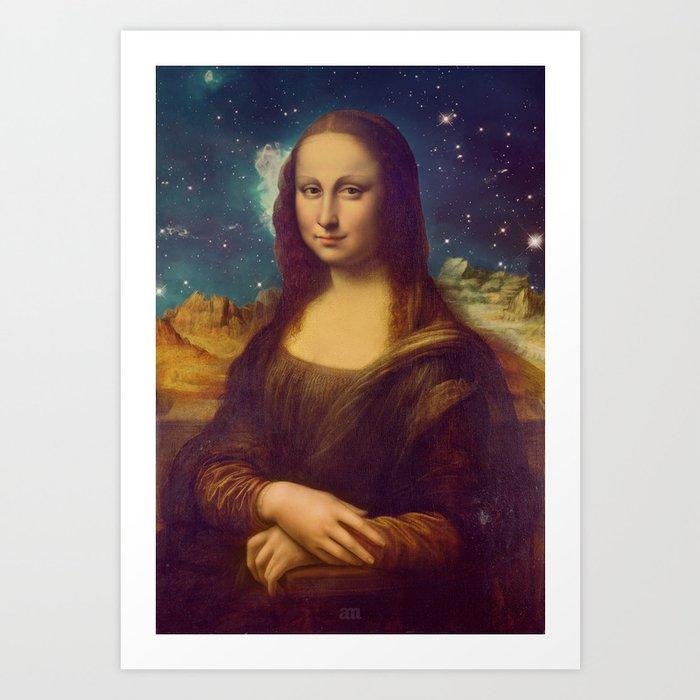 Mona Lisa's Galaxy Art Print