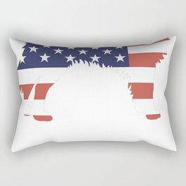 Australian-Shepherd-tshirt,-patriotic-Australian-Shepherd Rectangular Pillow