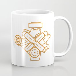 273 Commando - Engine Outline Coffee Mug