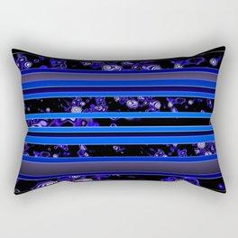 Organic Stripy (ultramarine) Rectangular Pillow