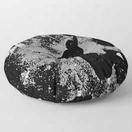 SLAM DUNK IN BLACK AND WHITE Floor Pillow