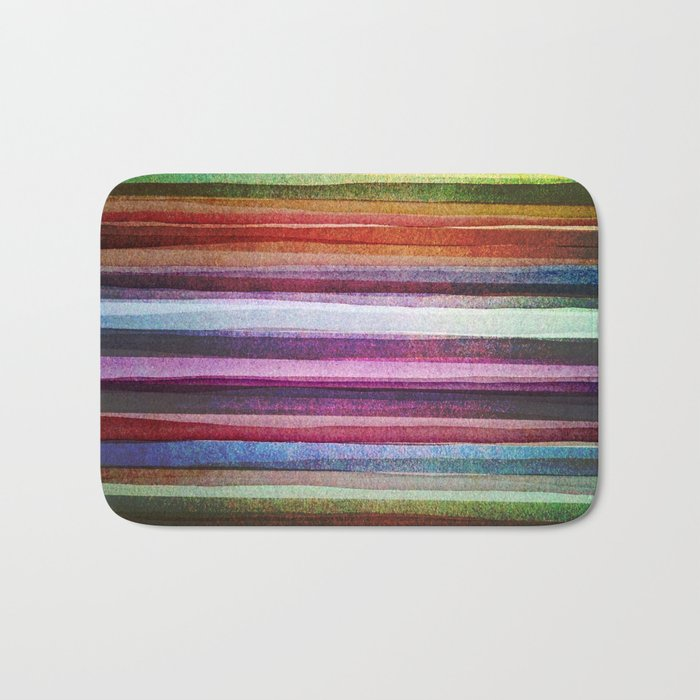 Happy rainbow water colors Bath Mat