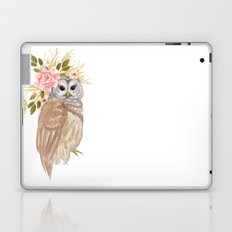 Owl with flower crown Laptop & iPad Skin