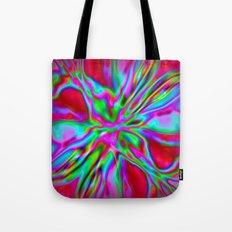 Colorfoil Radiates Red Tote Bag