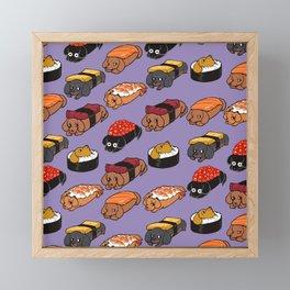 Sushi Daschunds Framed Mini Art Print