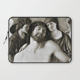 Dead Christ Between Two Angels by Giovanni Bellini Laptop Sleeve