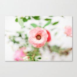 One Pink Flower Canvas Print