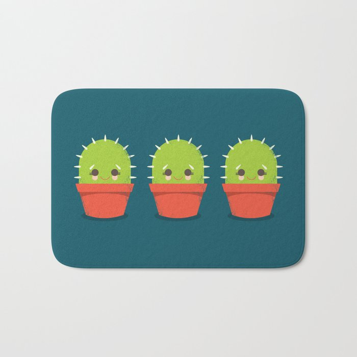 Kawaii Cactus Dude Bath Mat