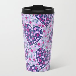 Floral hearts Travel Mug