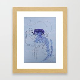 Blue Jellyfish 10 Framed Art Print