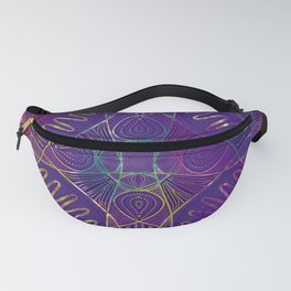 Purple Kaleidoscope Fanny Pack