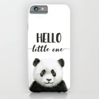 Panda Art Print Baby Animals Hello Little One Nursery Decor iPhone 6s Slim Case