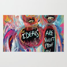 Ideals are bulletproof my dear Street Art Graffiti Rug