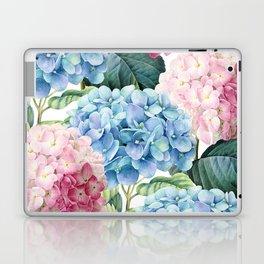 Pink Blue Hydrangea Laptop & iPad Skin