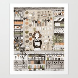 The Notions Shop Art Print