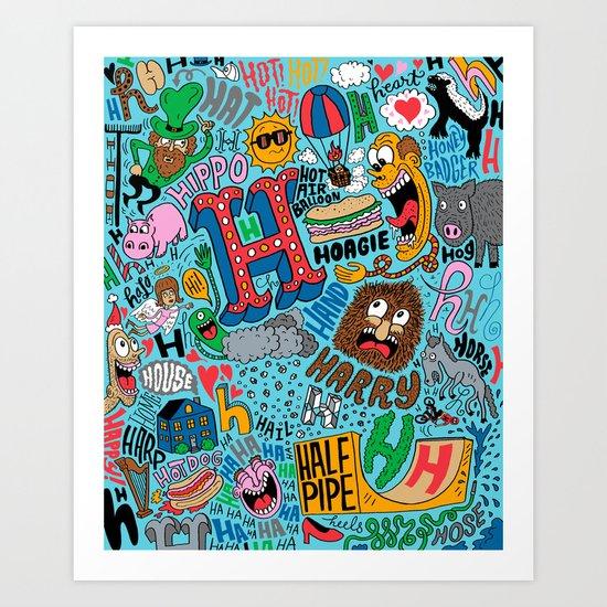 H Pattern Art Print