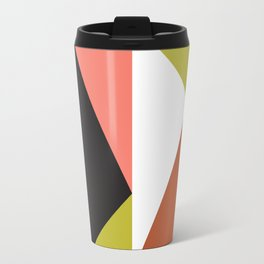 Geometric Pattern #23 (pink lime black triangle) Travel Mug