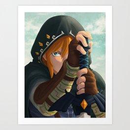 Link botw Artwork Art Print
