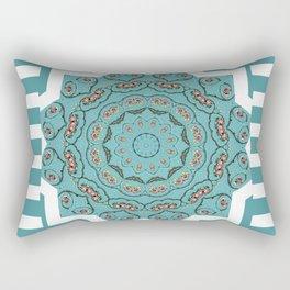 Patchwork Blue Rectangular Pillow