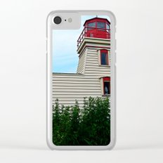 Lighthouse in the Garden Clear iPhone Case
