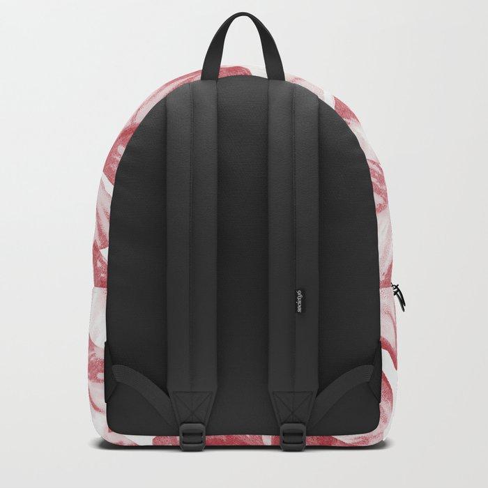 Dusty Rose Tropical Banana Leaves Arrows Design Backpack