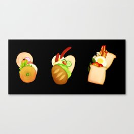 Bread and Sandwiches Canvas Print