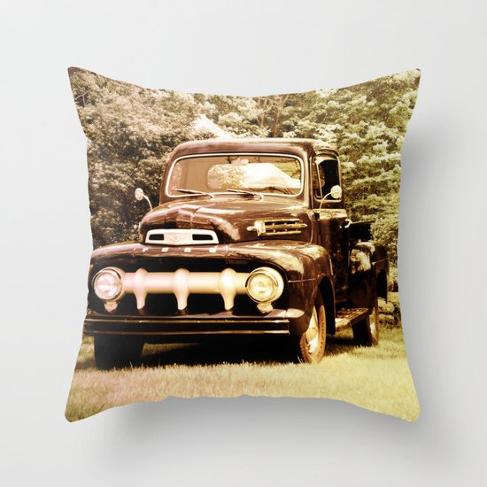 Ford in a Field Throw Pillow