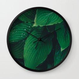 Moist Leaves Wall Clock