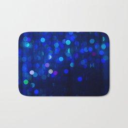 Blue Bokeh Bath Mat