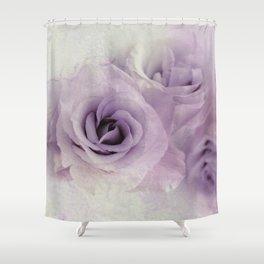 wet purple rose Shower Curtain
