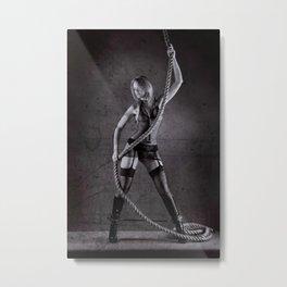 Lingerie and Rope Metal Print
